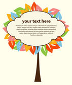 Abstract tree for text vector — Vettoriale Stock