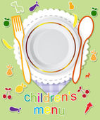 Children's menu vector design — Vettoriale Stock