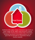 Abstract real estate vector background — Vettoriale Stock