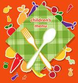 Children's menu vector design — Stock Vector