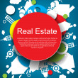Abstract real estate vector background — 图库矢量图片