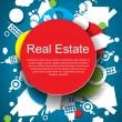 Resumen inmobiliario vector fondo — Vector de stock