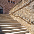 Stock Photo: Stone stairs with metal banister