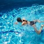 Swim breaststroke — Stock Photo