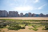 Beach of Gijon city — Stock Photo