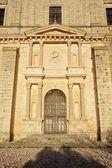 Door of church in Ucles — Stock Photo