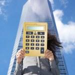 Calculator with blank screen — Stock Photo