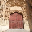 Carved door of Salamanca cathedral — Stock Photo
