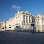 Facade of Madrid royal palace — Stock Photo #8134988