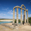 Ruin of roman temple - Stock Photo