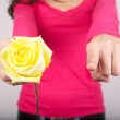 Yellow rose for you — Stock Photo #9580942