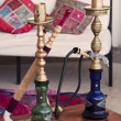 Two Arabic Shisha pipes — Stock Photo