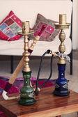 Two Arabic Shisha pipes — Stock Photo