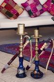 Dois tubos de shisha árabe — Foto Stock
