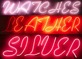 Neon Light Sign Advertisement — Stock Photo