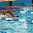 Olympic swimmer training — Stock Photo