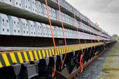 Train cargo wagons — Stock Photo