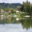 Lake front properties, Woodland WA. — Stock Photo #10351375