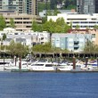 Waterfront condominiums and marina, panorama. — Stock Photo #10559640