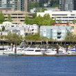 Waterfront condominiums and marina, panorama. — Stock Photo #10584639