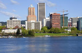 Portland Oregon skyline, in Spring. — Stock Photo