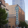 Stock Photo: Portland sign, Portland OR.