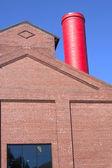 Red chimney. — Stock Photo