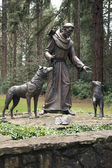 Statue of St. Frances of Assisi. — Stock Photo