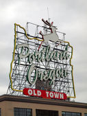 Made in Oregon sign, Portland OR. — Stock Photo
