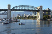 The Burrard bridge and False creek, Canada. — Stock Photo
