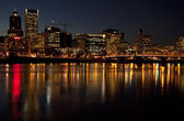 Portland Oregon at night. — Stock Photo