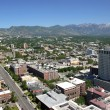 Stock Photo: East Salt Lake city, city view and mountains Utah.