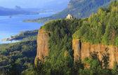 Crown point, Columbia River Gorge Oregon. — Stock Photo