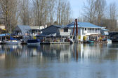 Floating houses and boats, Portland OR. — 图库照片