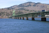 Long bridge of Hood River Oregon. — Stock Photo