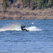 Wind surfing on the Columbia River, Hood River OR. - Photo
