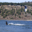 Wind surfer riding the wind, Hood river OR. - Lizenzfreies Foto