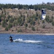 Wind surfer riding the wind, Hood river OR. - Photo