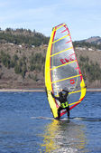 Wind surfing in Hood River Oregon. — Stock Photo