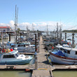 Stock Photo: Marin& moored fishing boats in Richmond BC Canada.