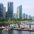 Stock Photo: High rises near Waterfront, Vancouver BC Canada.