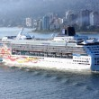 Cruise ship travels. - 