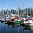 Boats &amp; marina in Vancouver BC Canada. - Stockfoto