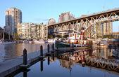 Granville island & Granville bridge BC Canada. — Stock Photo