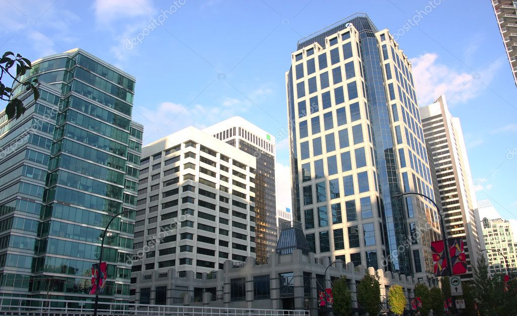 Downtown Vancouver BC high rises and business buildings. — Stock Photo #9813406