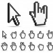 Cursor,hand sign  icons. — Stock Vector
