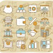 Finance,banking icon set - Stock Vector