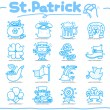Hand drawn St. Patrick`s day icon - Stock Vector