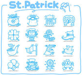 Hand drawn St. Patrick`s day icon — Stok Vektör
