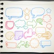 Hand drawn communication, speech bubbles collection - Stock Vector